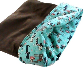 "FREE SHIPPING Large 25"" x 29"" dog bed or cat bed, plush, reversible, 3 layers"