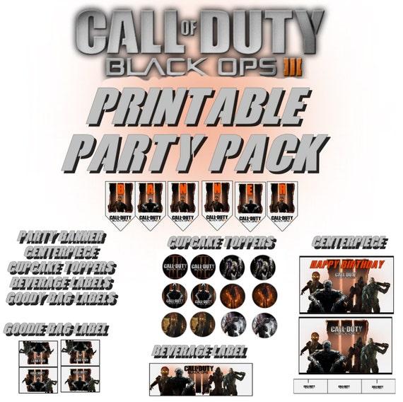 Call Of Duty Black OPS III Printable By GrandmasCakesandTees