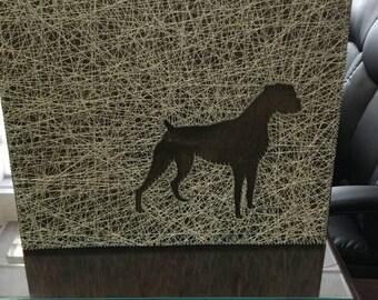 Boxer Dog String Art