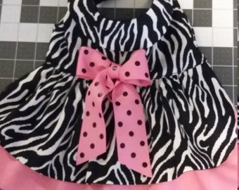 Zebra Dog Dress