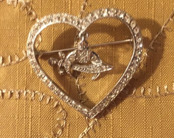 Heart shaped Shriners pin ORA