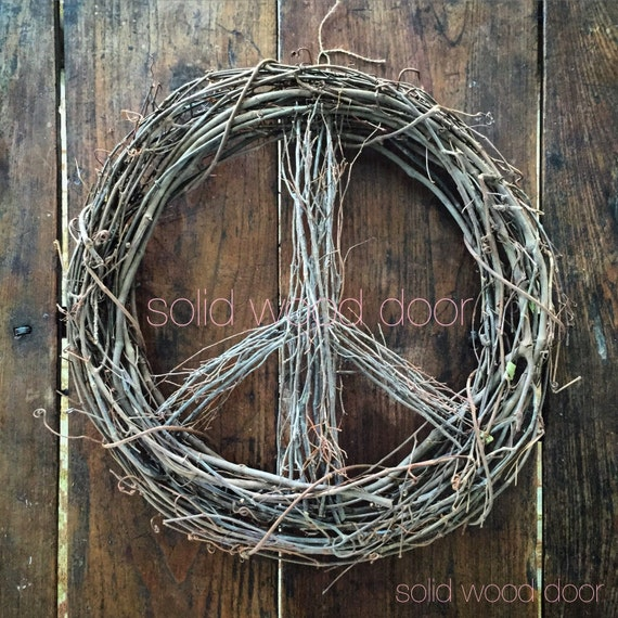18 spring easter peace sign wreath christmas wreath. Black Bedroom Furniture Sets. Home Design Ideas