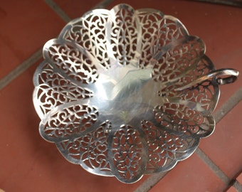 Lovelace Silver Candy Dish Vintage 1940's International Silver Co Silverplated Bon Bon Dish #1428 Serving Entertaining Collectible - Kit0383