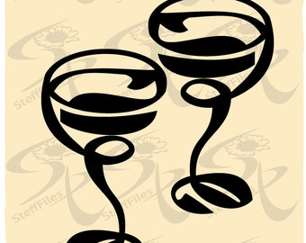 0293_Vector WINE GLASSES,SVG,dxf,ai, png, eps, jpg,Download files, Digital, graphical