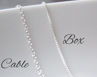 Silver Chain, Sterling Silver Chain, Jewelry Chain, Chain Necklace, Long Silver Necklace, Long Silver Chain, 925 Solid Silver Chain