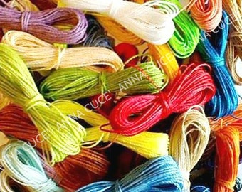 1500 meters of waxed thread LINHASITA 1mm thick, wire Brazilian macramé, 50 colors x 30 meters