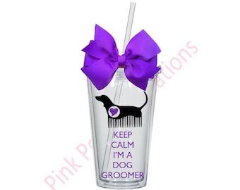 Dog Groomer Gift, Dog Groom Cup, Dog Groomer, Dog Groomers, Dog Lover Cup, Groomer Cup, Groomer Gift, Groomer Tumbler, Groomers, Tumbler Cup