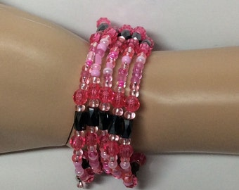 Shades of Pink Magnetic Bracelet, Necklace, Headband or Anklet