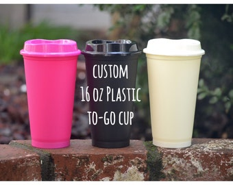 Custom 16 oz Plastic To-Go cup