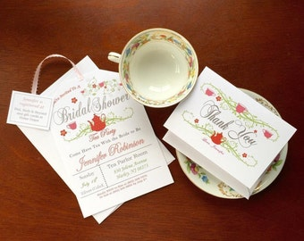 Thank you cards - Tea Party Shower