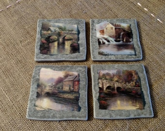 Thomas Kincade Coaster Set (Set of 4)