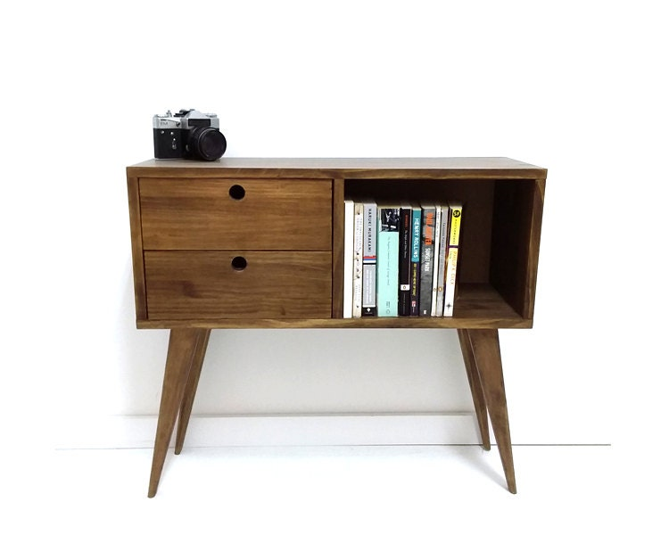mid century modern sideboard media console tv stand mid. Black Bedroom Furniture Sets. Home Design Ideas