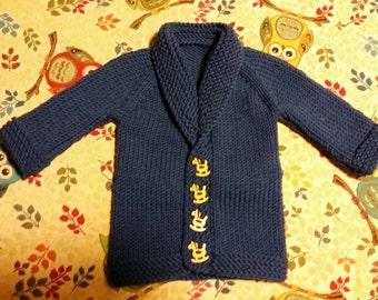 Baby sweater stocking St with raglan sleeve
