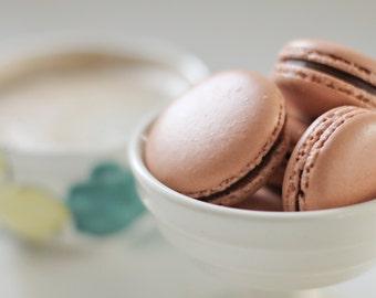 12 Chocolate French Macaron Cookies - 1 dozen