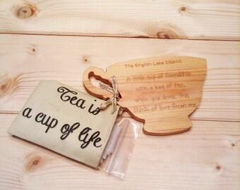 Wooden Teacups | Gift | Stocking filler | Tea bags