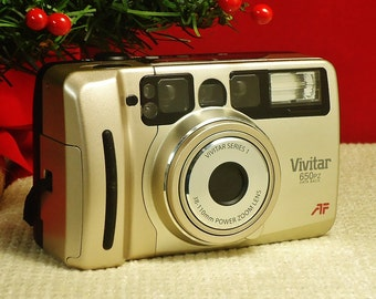 Vintage VIVITAR SERIES 1 650PZ Data Back Auto Focus 35mm Compact Point & Shoot Film Camera, 38-110mm Zoom lens Circa: 1990's, Excellent!