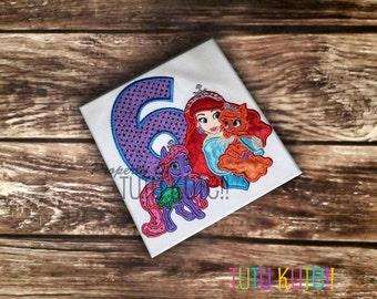 Ariel's Palace Pets Birthday shirt FREE personalization