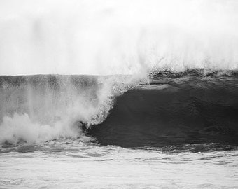 Black and White Home Decor, Dad Gift, Husband Gift, Gift for Him, Ocean Photography, Surf Art, Wave Photo, Masculine Decor, Waves
