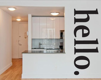 Wall Decal Hello Word w002