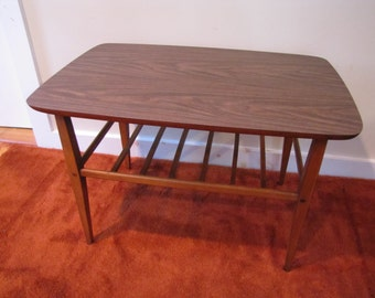 Vintage Lane End Table, Lane Side Table with Shelf, Mid Century Lane Side Table, Two Tier End Table, Side Table with Storage Shelf