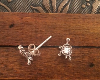 Sterling Silver studs,Turtle Studs,Vintage studs,Ethnic-Hippy-Gypsy-