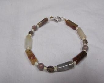 Beaded bracelet Agate, jasper,hand made