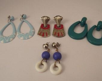 4 Pairs Vintage Earrings #6