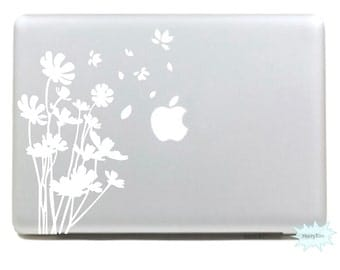 Flowers Decals Mac Stickers Macbook Decals Macbook Stickers Apple Decal Mac Decal Stickers Laptop Decal