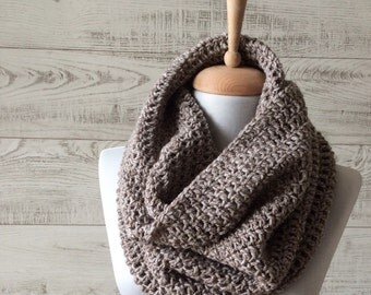 Knit cowl, scarf, knit scarf, chunky knit cowl, mens scarf, hooded knit scarf, knit infinity scarf FAST DELIVERY