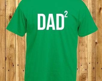 Dad Of Two, Dad Of Twins, Two Awesome Children, Fathers Day Gift, Math Geek T-Shirt, Two Kids Tshirt, The Power of 2, Dad Squared T-Shirt