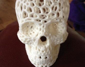 White 3d printed skull