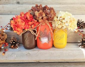 fall mason jars fall mason jar decor lighted mason jars for fall fall - Images Of Fall Decorations
