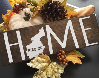 Home Sign - Province Sign - State Sign - Home Decor