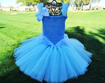 Cinderella Inspired tutu dress, Halloween tutu costume