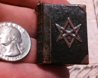 The Book of the Law by Aleister Crowley mini book pendant leather bound full text