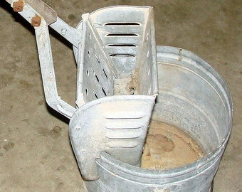 Mop Bucket Planter Old Galvanized Steel Mop Bucket The BEST Planter You Can Find Rustic Decor