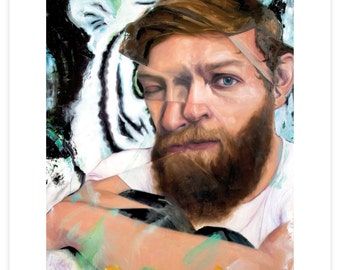"Digital Art Print Based On Figurative Oil Painting ""Locked Out"""