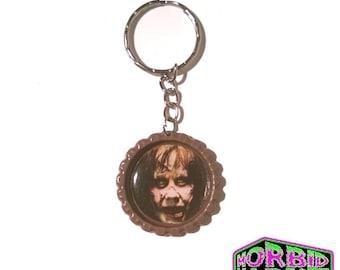 The Exorcist Regan Bottle Cap Horror Key Chain