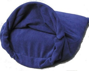 "MED 27""X30"" Navy Polar Fleece Snuggle Bed"