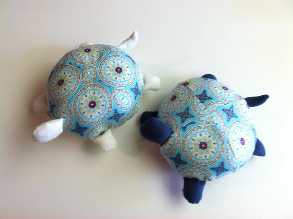 Stuffed Animal Tooth Fairy Pillows Turtles by BeKraftie on Etsy