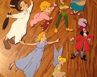 Double-sided set of 7 Peter Pan die cuts