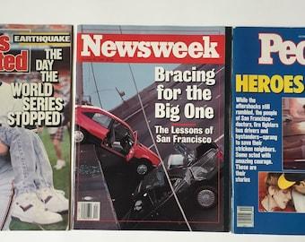 San Francisco earthquake, Sports Illustrated, because my people magazine, Newsweek San Francisco earthquake, earthquake 1989