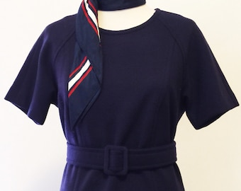 Tailored '60s Navy Wiggle Dress