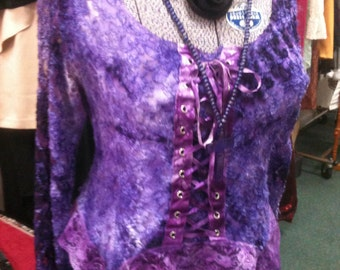 Gothic Velvet and Lace Top