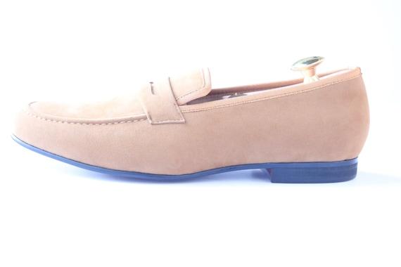 7acdbecc24f hot sale Men Merlutti by DAVUCCI handmade plain brown velvet slippers
