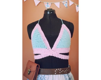 crochet crop/bra top, perfect for summer festivals or beach!