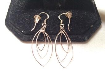 925 sterling silver fish hoop earrings