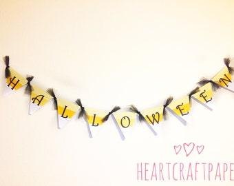 Candy Corn Halloween Banner