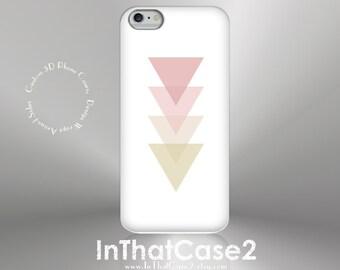1294 // iPhone 6 Case iPhone 6 Plus Case iPhone 5 Case iPhone5sCase Samsung GalaxyS5case GalaxyS6case, custom case pink triangles gold arrow