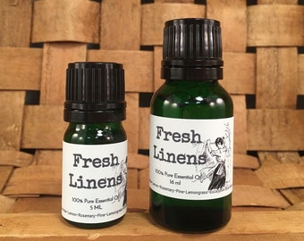 Fresh Linens, Pure Essential Oil, Spring, Summer Blend, Diffusing, Cleaning, Clean, Laundry
